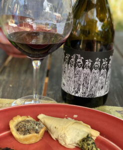 Headline Wine by Tres Sabores Paired with Mushroom Tart and Spanokapita