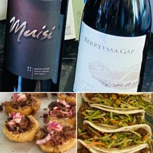 Merisi and Berryessa Gap Petite Sirahs with Chalupa and Taco Pairings