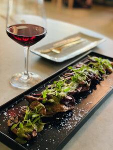 Chef Cory Baker's Skirt Steak with Chile Verde Foam