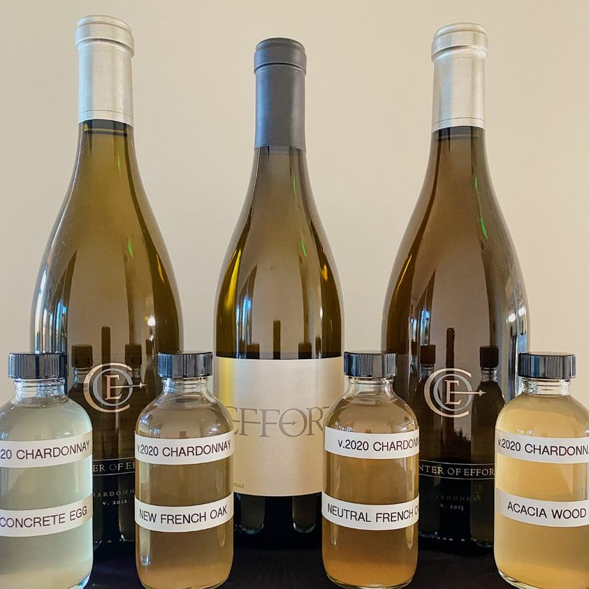 Center of Effort Chardonnays with Four Barrel Samples