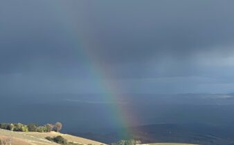 Rainbow from Daou Over Hillside