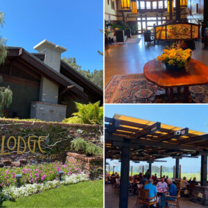 The Lodge Building at Torrey Pines and The Grill Outside Seating