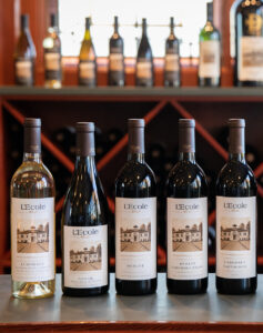 L'Ecole Bottles of Wine Sporting the Schoolhouse Photo