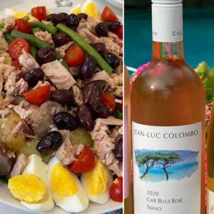 Jean-Luc Colombo Colombo Rosé with Salade Nicoise