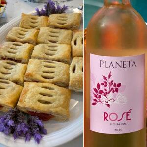 Planeta Rosé with Pastel de Guayaba