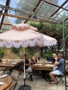 Habana Restaurant with its Fringed Pink Umbrellas