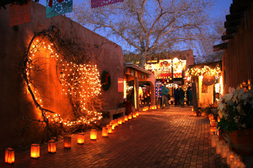 Old Town Lined with Luminaria