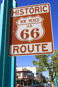 Red Route 66 Historic Sign. Photo by Jeff Greenberg