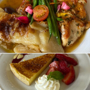 Cafe Jardin Chicken Provencal and Key Lime Pie