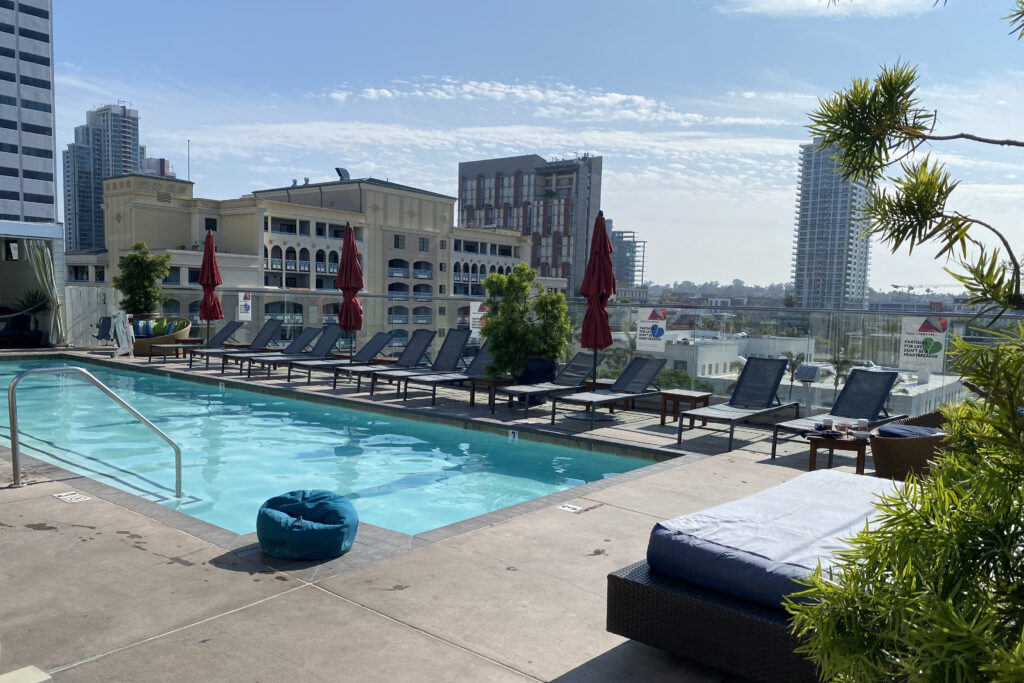 Rooftop Pool with View of City
